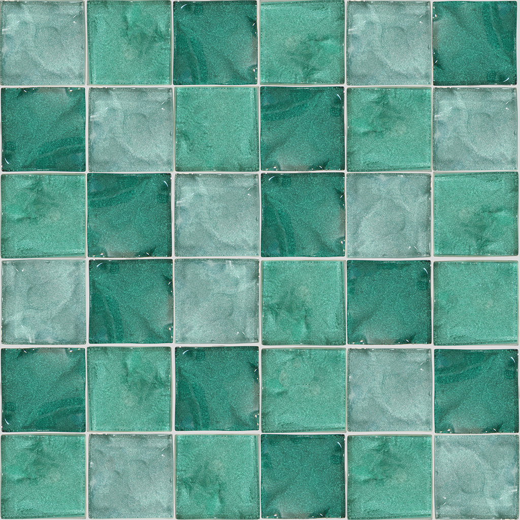 MOSAICO DE VIDRO MOTION PASSION VERDE AGUA 4,8X4,8MM COLORMIX ...